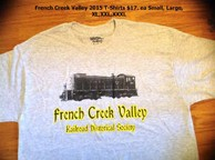 BUY NOW: T-Shirt grey w/Logo & train IN PERSON
